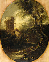 Landscape with Hermit, Pilgrim and Peasant Woman