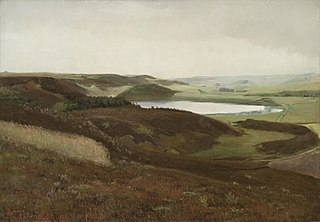 A landscape near Bryrup, Jutland