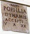 Lastra funebre rinvenuta a roma nel 1748, cil vi 24803.JPG