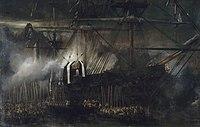 Le transfert des cendres de Napoléon à bord de La Belle Poule, le 15 octobre 1840, Eugène Isabey