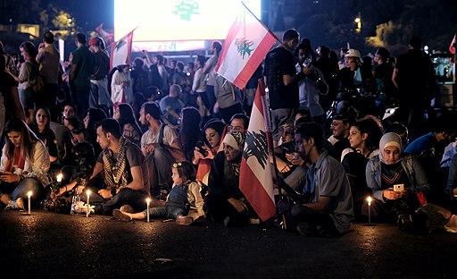 LebanonProtestsRingBridge Oct262019