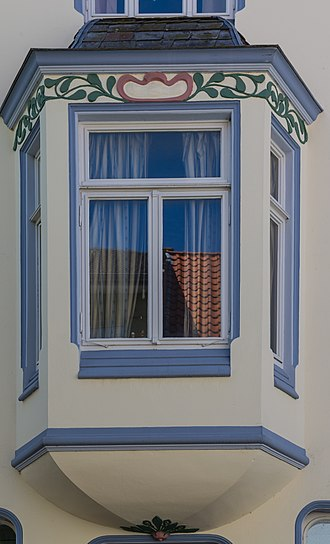 Bay window - A canted bay window in Lengerich, Germany