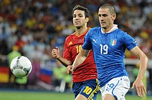 Leonardo Bonucci and Cesc Fàbregas Euro 2012 final.jpg