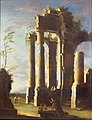 Leonardo Coccorante - Capriccio with Ancient Ruins and Figure, Dusk (II).jpg