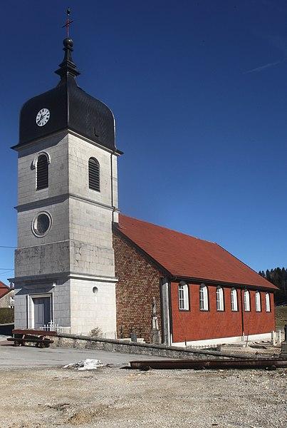 Eglise des Villedieu (Doubs).