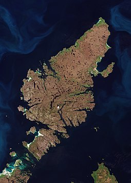 Satellite photograph of Lewis and Harris
