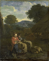 Sheperdess reading