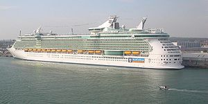 Liberty of the Seas in Southampton on 22nd Apr...