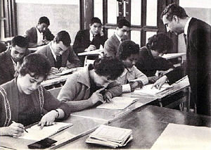 University of Libya - Students during a seminar at the university (1966)
