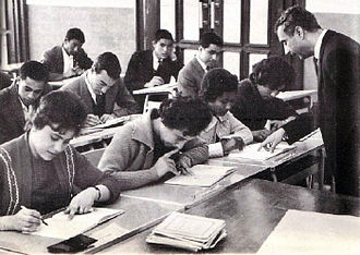 University of Libya - Students during a seminar at the university (1966)