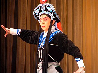 Lin Chong - Lin Chong portrayed by a Peking opera actor during a 2008 performance in Maule Regional Theater, Talca, Maule Region, Chile.