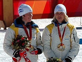 Lina Andersson (links) en Anna Olsson (rechts)