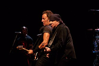 Steven Van Zandt - Springsteen and Van Zandt, onstage during the Working on a Dream Tour, August 1, 2009, in Valladolid, Spain.