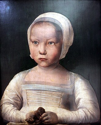 Pride and Joy: Children's Portraits in The Netherlands 1500-1700 - Image: Little girl with dead bird mg 2968