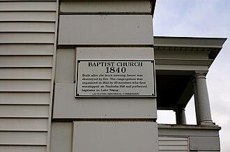 Littleton, Massachusetts - History of the First Baptist Church