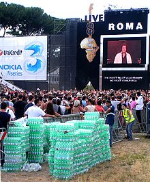 Live8 fans got through a lot of water in rome.jpg