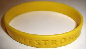 Livestrong Foundation - The Livestrong wristband.