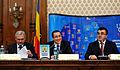 Liviu Dragnea, Victor Ponta si Marian Oprisan la Adunarea Generala a UNCJR, Palatul Parlamentului - 03.12.2013 (11190438416).jpg
