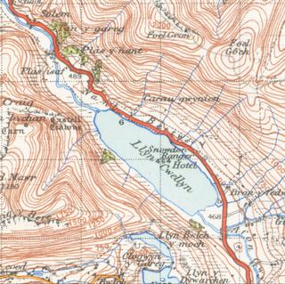 Llyn Cwellyn lake in the United Kingdom