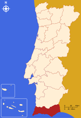 Localisation du district de Faro