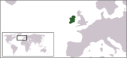 Ireland is located west of the European landmass, which is part of the continent of Europe