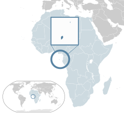 Location of  São Tomé and Príncipe  (dark blue)– in Africa  (light blue & dark grey)– in the African Union  (light blue)