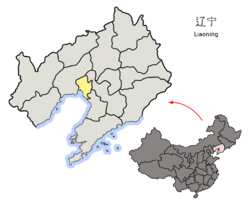 Location of Panjin City in Liaoning