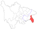 Location of Qianjiang Prefecture within Sichuan.png