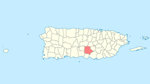 Location of Coamo in Puerto Rico
