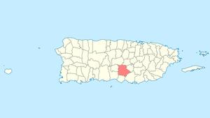 Coamo, Puerto Rico - Image: Locator map Puerto Rico Coamo