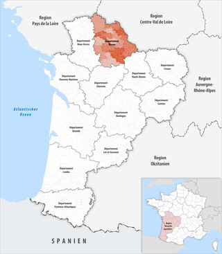 Location of the Vienne