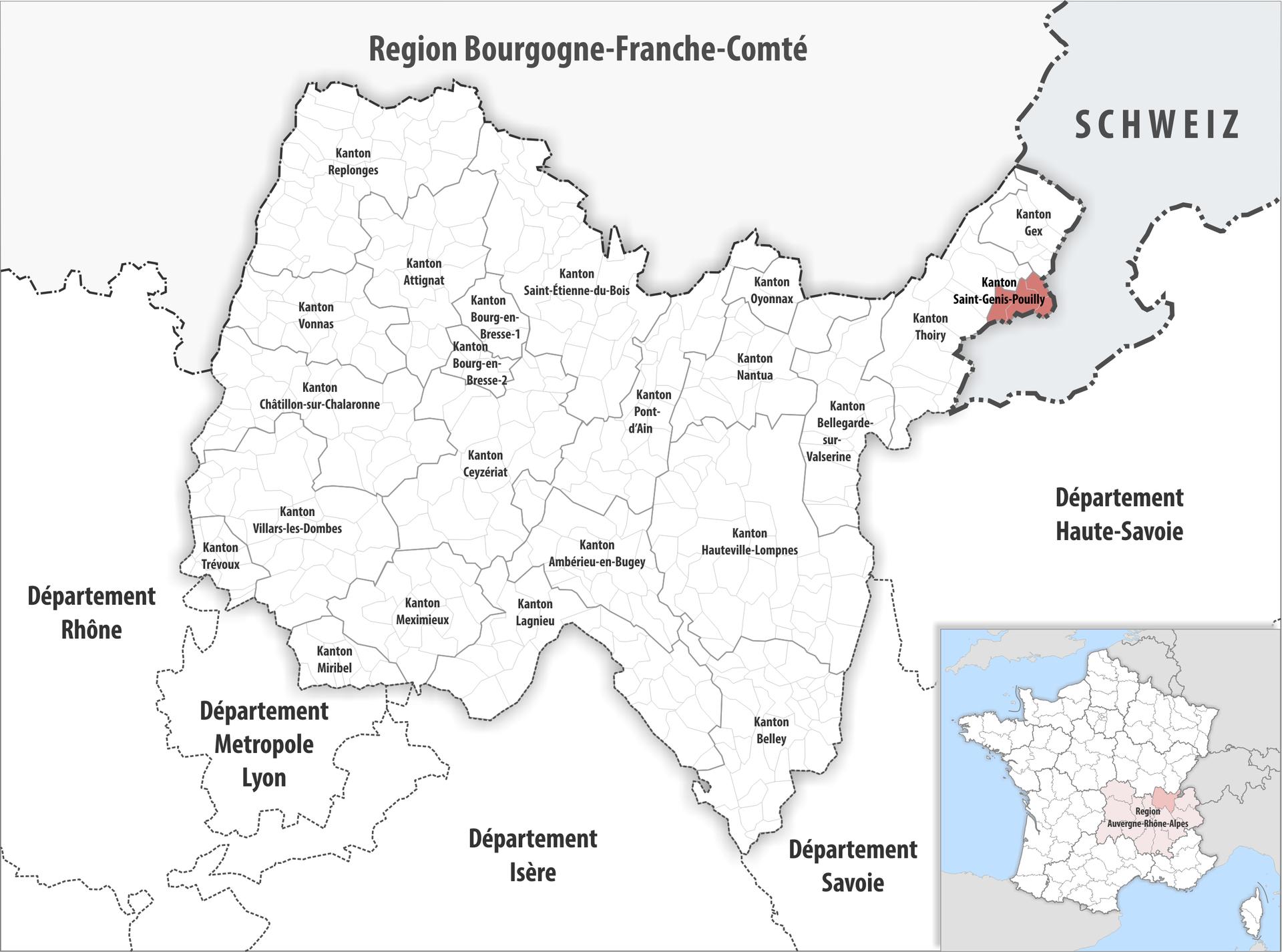 Kanton saint genis pouilly wikipedia for Comcode postal saint genis pouilly