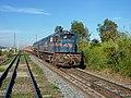 Locomotiva de comboio parado sentido Boa Vista no pátio da Estação Ferroviária de Itu - Variante Boa Vista-Guaianã km 202-203 - panoramio.jpg