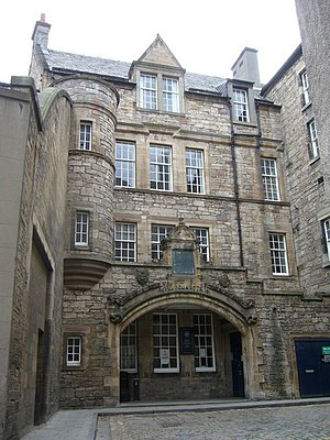 Officers' Training Corps - Forrest Road Drill Hall, home of Edinburgh UOTC from 1957 to 1993