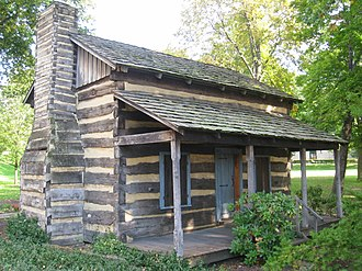 Log Cabin (University of Pittsburgh) - This log cabin from the 1800s was placed on the grounds of the Cathedral of Learning to celebrate Pitt's bicentennial and log cabin origins.