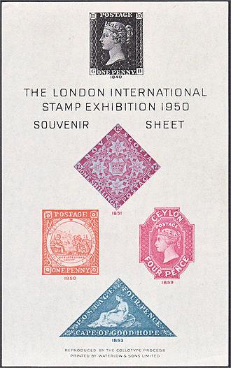 Philatelic exhibition - The souvenir sheet for the London International Stamp Exhibition 1950