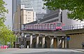 London MMB »0S0 A1261 West India Dock Road and Docklands Light Railway.jpg