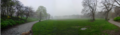 Long Meadow Panorama from North Prospect Park Foggy Morning.png