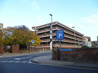 Parking - A multi-story car park in Gloucester, England