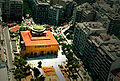 Looking down at Hagia Sophia Sq Thessaloniki 2004.jpg