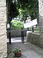 Looking from Dove House towards the gate into Church Lane - geograph.org.uk - 942858.jpg