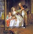 Louis-Roland Trinquesse Portrait du Vicomte de Sainte-Hermine et de sa femme avec leurs deux filles.jpg