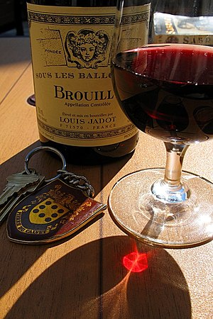 Bottle of Louis Jadot Brouilly Cru Beaujolais ...