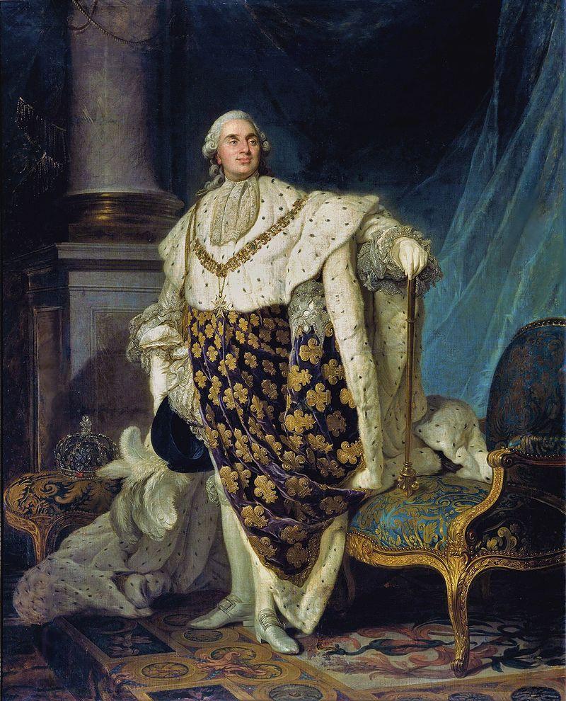 Louis XVI en habit de sacre, Joseph-Siffrein Duplessis, 1777, musée Carnavalet.