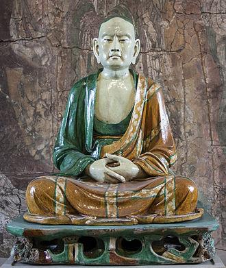 Yixian glazed pottery luohans - Image: Luóhàn at British Museum