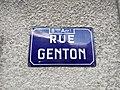 Lyon 8e - Rue Genton - Plaque (mai 2019).jpg