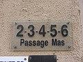 Lyon 9e - Passage Mas - Plaque 2-3-4-5-6 (fév 2019).jpg