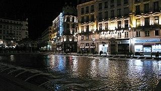 public square in Lyon, France