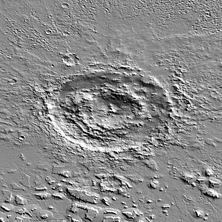Lyot (Martian crater) crater on Mars