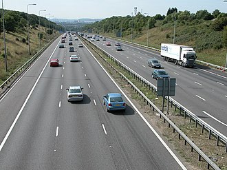 South West England - M5 looking south towards Avonmouth